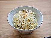 Korean food Seasoned Bean Sprouts, Mix bean sprouts
