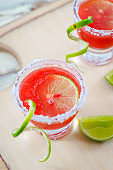 Watermelon Margarita, Easy Menu Drink for Summer Drink and Cocktail