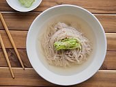 Korean food Cold Buckwheat Noodles, Mul-naengmyeon