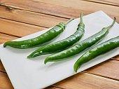 Korean food ingredients green pepper