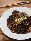 Korean food Seafood jajangmyeon