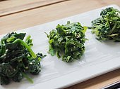 Korean side dishes Spinach seasoned, Seasoned Pigweed