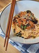 Korean food Bibim noodles, Bibim guksu