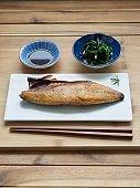 Asian food Grilled mackerel