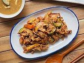 Korean food Jeyuk bokkeum, stir-friedspicypork