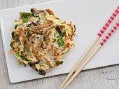 Korean style Egg mushroom pancakes