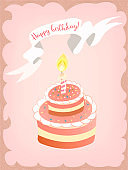 Greeting card Happy birthday.