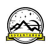 Mountain wilderness adventure travel sticker badge