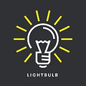 Electric lightbulb energy icon