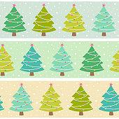 Christmas tree seamless pattern background