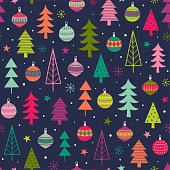 Colorful christmas trees background