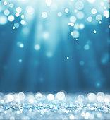 Magic white and blue glitter