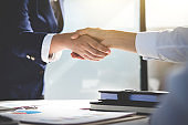 Teamwork process, Image of business team greeting handshake. Successful business people handshaking after good deal, success, dealing, greeting & business partner