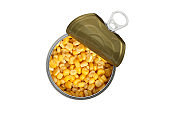 sweet corn in metal cans