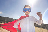Superhero kid. Success concept