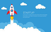 Business Start up launch concept