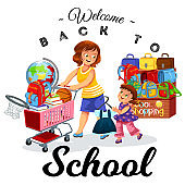School shopping with mom poster