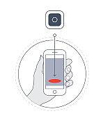 Smart phone app downloading