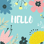 Beautiful greeting card with floral.