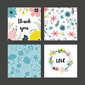 Beautiful greeting card with floral. Pastel flowers.