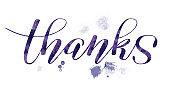 Hand Lettering 'thanks'