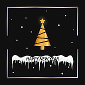 Merry Christmas and Happy New Year. 2019. Vector illustration