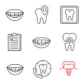 Dentistry icons