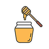 Honey jar with dipper icon