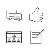 Information center icons
