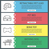 Pets supplies icons