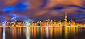 HK CBD Sky dark rise