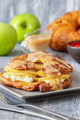 Stuffed Croissant French Toast