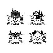 Summer camp badges  and labels
