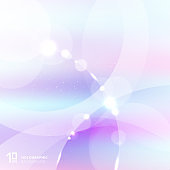 Abstract gradient pastel color with white and gray circles overlay and lighting effect. Holographic background.