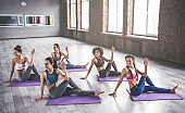 Group yoga training
