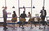 Group of people working in modern office
