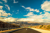 Highway climbin the mountains of Croatia