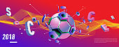 Soccer and footbal web banner