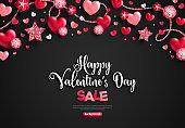 Valentine's day sale horizontal border