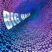 Big Data Funnel Information Flow 3d Illustration