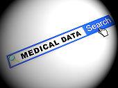 Big Data Medical Health Database 2d Illustration