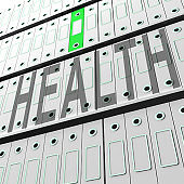 Big Data Health Medical Database 3d Rendering