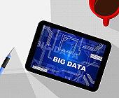 Bigdata Flow Stream Of Big Data 2d Illustration