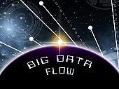 Bigdata Flow Stream Of Big Data 3d Illustration