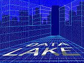 Data Lake Digital Datacenter Cloud 3d Illustration