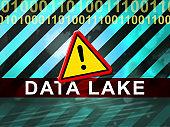 Data Lake Digital Datacenter Cloud 2d Illustration