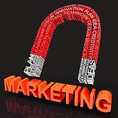 Data Driven Marketing Database Analytics 3d Rendering