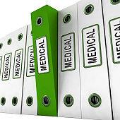 Big Data Medical Health Database 3d Rendering