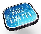 Big Data Logo Digital Information 3d Illustration