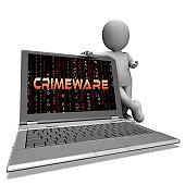 Crimeware Digital Cyber Hack Exploit 3d Rendering